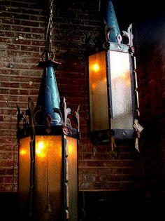 Rustic hanging Lamp..