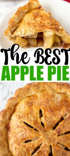This Easy Apple Pie Recipe will quickly be a family favorite. The Best Apple Pie is so easy to make and one that you have to try! It is an easy apple pie recipe that everyone will love. Quick Apple Pie Recipe, Apple Crockpot Recipes, Easy Pie Recipes, Homemade Apple Pies, Apple Pie Recipes, Baking Recipes, Best Ever Apple Pie, Apple Pie Crust, Köstliche Desserts