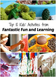 Top 10 Kids' Activities from Fantastic Fun and Learning-Our favorite posts and the top things we've learned during our first year blogging.