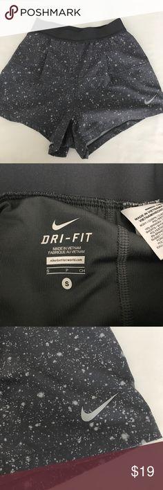 Nike athletic women's dri fit shorts Nike athletic women's dri fit shorts.  Great colors in nice condition.  See pic for elastic. Nike Shorts