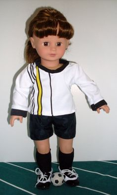 Soccer Uniform for American Girl Doll includes by TCsTreasures