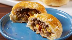 Bacon Cheeseburger Bombs Burger bombs >>> sliders Get the recipe from Delish. Easy Bacon Recipes, Ground Beef Recipes Easy, Cooking Recipes, Cheap Recipes, Pumpkin Recipes, Healthy Recipes, Vegetarian Recipes, Cooking Ham, Cooking Ribs