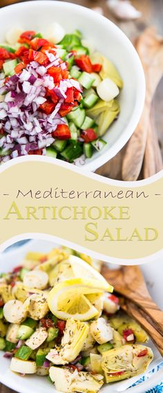 Mediterranean Artichoke Salad | thehealthyfoodie.com More