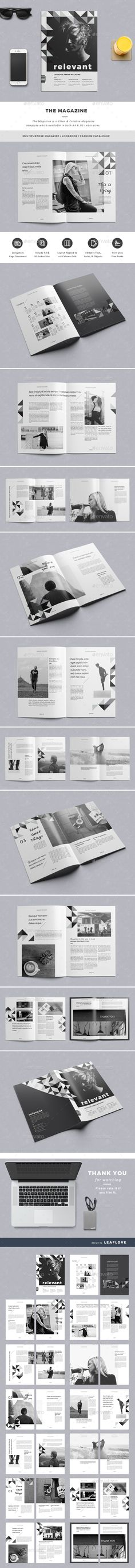 The Magazine by LeafLove The Magazine / Clean & Creative Magazine Template. This layout is suitable for any project purpose. Very easy to use and customise Cool Magazine, Print Magazine, Magazine Design, Magazine Cover Template, Indesign Magazine Templates, Architecture Magazines, Editorial Design, Editorial Fashion, Grafik Design