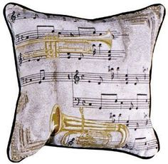 Music To My Ears Tapestry Decorative Pillow - With Love Home Decor