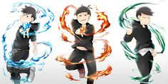 AU osomatsu XD >> Elements, of course! Look at these pretty bois!!
