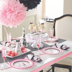 how to plan the perfect paris themed party.The Best Paris Birthday Party Ideas Paris Themed Birthday Party, Birthday Party For Teens, Valentines Day Party, Birthday Party Themes, Birthday Ideas, Spa Birthday, Happy Birthday, Paris Bridal Shower, Paris Baby Shower