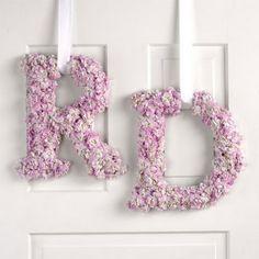 Iniciales Monogramas de flores rosa Corona decoracion de boda fiesta celebracion aniversario Manualidad DIY #Floral #monogrammed #Pink #wedding #romantic #quince años #party decoration