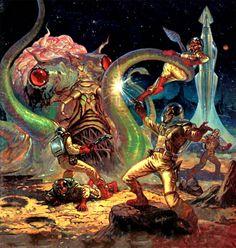 Pulp sci-fi art. By Donald Newton