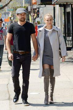 Diane Kruger and Joshua Jackson.. NY..... - Celebrity Fashion Trends