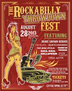 Create a Rockabilly Poster With Vector Set 22 - Final piece