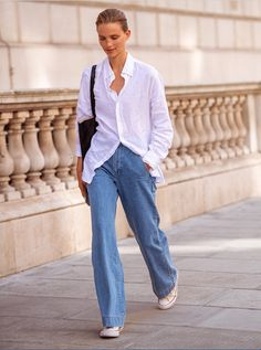 How to wear relaxed denim