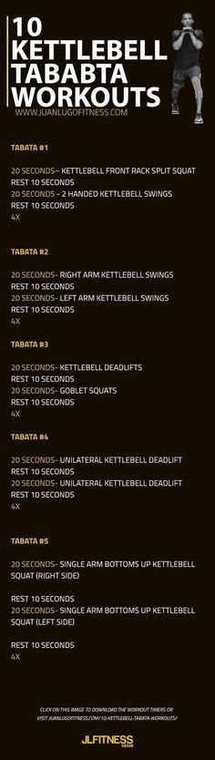 10 Kettlebell Tabata Workouts | Posted By: AdvancedWeightLossTips.com https://www.kettlebellmaniac.com/kettlebell-exercises/