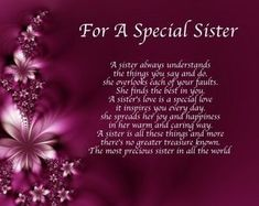 Personalised For A Special Sister Poem Birthday Christmas Gift Present 786071610200 Sister Poems Birthday, Birthday Greetings For Sister, Birthday Verses For Cards, Birthday Wishes For Myself, Birthday Wishes Quotes, Happy Birthday Sister In Heaven, Happy Valentines Day Sister, Birthday Heaven, Birthday Prayer