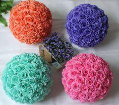 Rose Flower Ball Pomander Rose Balls Wedding by FeatherParadise