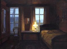 "huariqueje: ""Twilight Interior - Sir George Clausen """