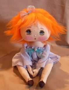 (sweetest little carrot-top girl! Pretty Dolls, Beautiful Dolls, Doll Toys, Baby Dolls, Steampunk Dolls, Doll Sewing Patterns, Kokeshi Dolls, Waldorf Dolls, Soft Dolls