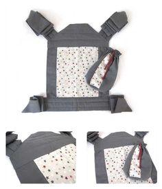 Cómo hacer un Mei Tai   Portabebés DIY - recomendable hacer las tiras algo mas gruesas. Reposacabezas cortado a unos 45º