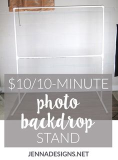This DIY photography backdrop stand project costs 10 and takes 10 minutes and will step up your photography to the next level Photo Backdrop Stand, Pvc Backdrop, Picture Backdrops, Backdrop Frame, Photography Backdrop Stand, Backdrop Wedding, Backdrop Ideas, Photography Props, Creative Photography