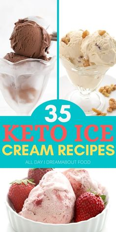 The best homemade low carb ice cream recipes! You want them and Ive got them. Check out this amazingly delicious list of sugar-free and keto-friendly ice cream treats. Plenty of no-churn recipes too! Sugar Free Ice Cream, Low Carb Ice Cream, Healthy Ice Cream, Protein Ice Cream, Keto Desserts, Sugar Free Desserts, Dessert Recipes, Summer Desserts, Recipes Dinner