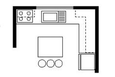 6 basic kitchen layouts com commercial layout l shaped simple for restaurant . Square Kitchen, Basic Kitchen, Kitchen On A Budget, Kitchen Colour Schemes, Kitchen Colors, Kitchen Design, Kitchen Ideas Philippines, Sink In Island, Island Kitchen