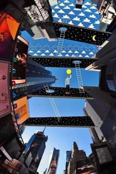 This artist draws on the sky between buildings - News - Art - The Independent