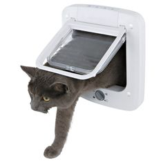 Trixie Pet Products 4 Way Plastic Cat Door with Rotary Lock - 3850