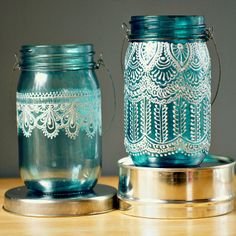 DIY: Moroccan Painted Mason Jars
