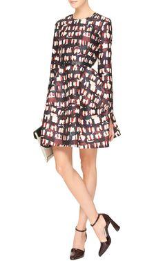 Printed Wool and Silk-Blend Dress by Marni - Moda Operandi