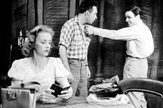 """Jessica Tandy, Steve Hubbell and Marlon Brando, right, in """"A Streetcar Named… Jessica Tandy, Night Of The Iguana, Driving Miss Daisy, Streetcar Named Desire, Jean Simmons, Old Hollywood Actresses, Tennessee Williams, Little Bit, Stage Play"""