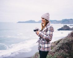 Snapping away  see more of our sunset visit to Black Sand Beach on galmeetsglam.com today #ontheblog #blacksandbeach #willjourney #sanfrancisco by juliahengel