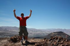 """Top of  Antofagasta de la Sierra Volcano, Catamarca, Northern Argentina! #greatwalker    One of only a few of outsiders to have visited since the Argentine government opened the region up for tourism, my guide assured me the trek up the volcano was easy. It was tougher than I expected with the altitude (and the lack of any safety measures from slipping on the crumbly volcanic rock and rolling down the steep slope!), but once we got to the top, all I can say is """"WOW!"""""""