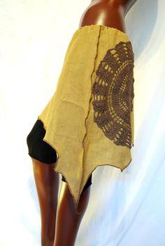 Elven pixie skirt, earth tone mandala forest OOAK de PinkyPurpleTree en Etsy https://www.etsy.com/es/listing/193093070/elven-pixie-skirt-earth-tone-mandala