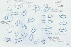 Character sketches of Lilo's hands by Adreas Deja for Lilo and Stitch
