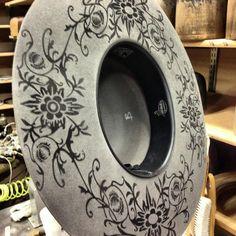 Floral Tattoo Granite Hat.   Greeley Hat Works