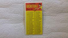 1969-70 Topps single basketball checklist card