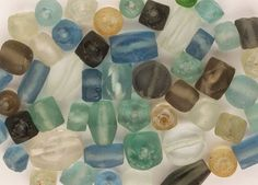 Beads - Recycled Glass - 48+ Pieces, Assorted. Most in Pa...