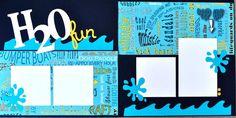 H2O fun - Fun scrapbook page kit.