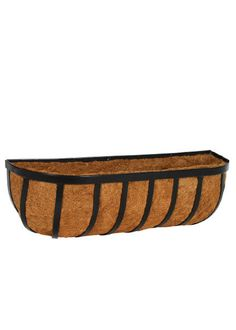 Coco Lined Black Wall Planter - Serene Spaces Living - $61.99 - domino.com