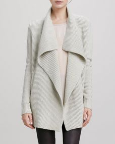 Vince ribbed drape collar cardigan