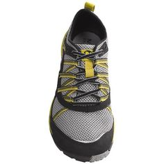 Merrell Flux Glove Sport Running Shoes - Barefoot (For Men) in Black/Light Firefly