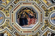 Santa Maria del Popolo - Cristo incorona Maria - Pinturicchio  #TuscanyAgriturismoGiratola