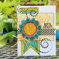 Tami shows how to do the dot foil technique using a card sketch, Izink inks, & ColorBox Spritzers. Click on the image for the full tutorial. | Clearsnap Blog