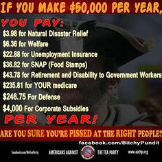 $4,000 for corporate subsidies!... Point your anger about freeloading where it belongs.