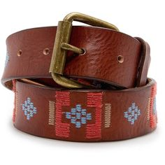 MANGO Ethnic leather belt ($60) found on Polyvore