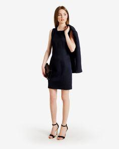 Metallic dot print suit dress - Navy | Suits | Ted Baker