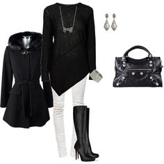 """""""Black and white"""" by leelee107 on Polyvore"""