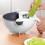 Magic Multifunctional Rotate Vegetable Cutter With Drain Basket Kitchen Veggie Fruit Shredder Grater Slicer How To Wash Vegetables, Types Of Vegetables, Veggies, Chefs, Chef Cuistot, Vegetable Slicer, Vegetable Chopper, Kitchen Helper, Chef Kitchen