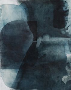 Eric Blum - Untitled works, 2013 - ink, silk, & beeswax on panel