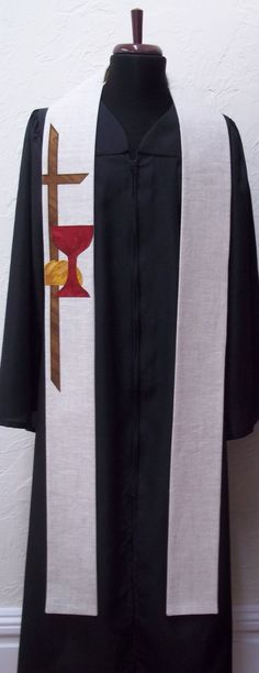 Clergy Stole with Communion Symbols